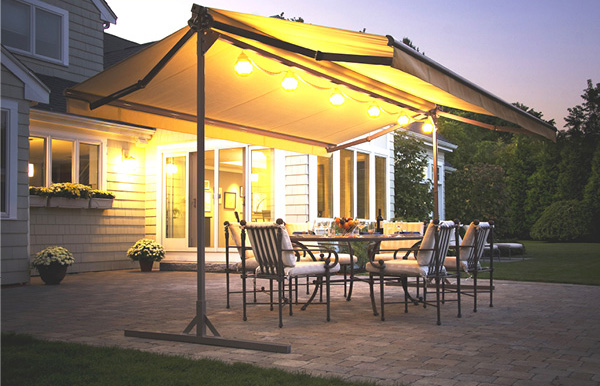Retractable Amp Motorized Patio Awnings Providing Outdoor